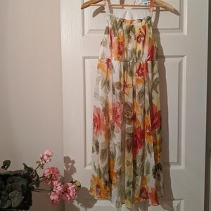 Floral Multicolored Babydoll Dress